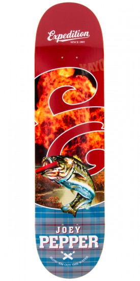 """Expedition Joey Pepper Plaid Skateboard Deck - 8.06"""""""