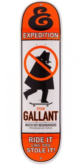 """Expedition Ryan Gallant Stole It Skateboard Deck - 8.00"""""""