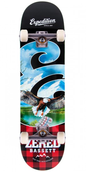 """Expedition Zered Bassett Plaid Skateboard Complete - 8.25"""""""