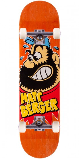 "Flip Berger Beardo Skateboard Complete - 8.0"" - Orange Stain"