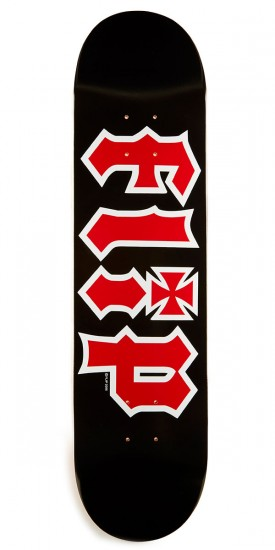 Flip Team HKD Skateboard Deck - Black - 7.75""