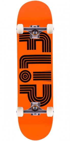 Flip Odyssey Logo Tube Skateboard Complete - Orange - 8.0""