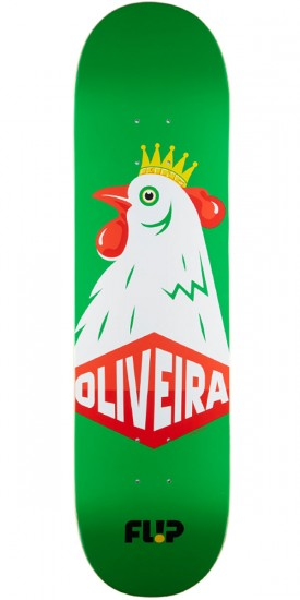 Flip Oliveira Cockerel Skateboard Deck - 8.13""
