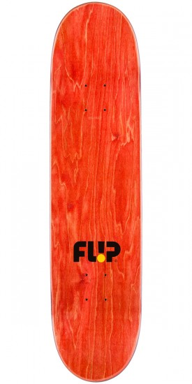 Flip Team Odyssey Stencil Skateboard Deck - Yellow - 7.75