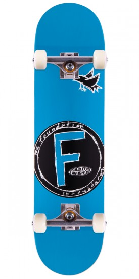 Foundation Bird Price Point Skateboard Complete - Blue - 8.0""