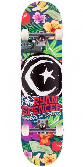 Foundation Ryan Spencer Hawaiian Skateboard Compete - 8.25""