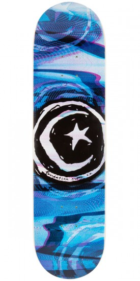 Foundation Star And Moon Glitch Skateboard Deck - 8.25""