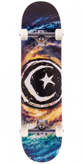 Foundation Star & Moon Galaxy III Skateboard Complete - 8.0""