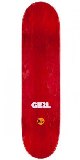 Girl Carroll Advertype Skateboard Deck - 8.125""