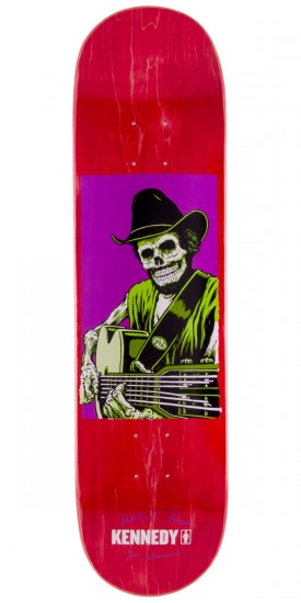 "Girl Cory Kennedy Skull of Fame Skateboard Deck - 8.0"" - Red Stain"