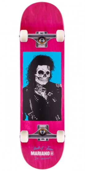 "Girl Guy Mariano Skull of Fame Skateboard Complete - 8.25"" - Pink Stain"