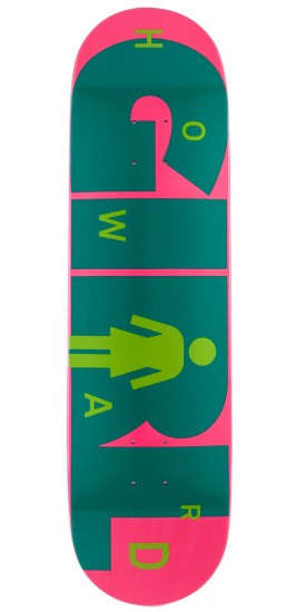 Girl Howard Advertype Skateboard Deck - 8.5""