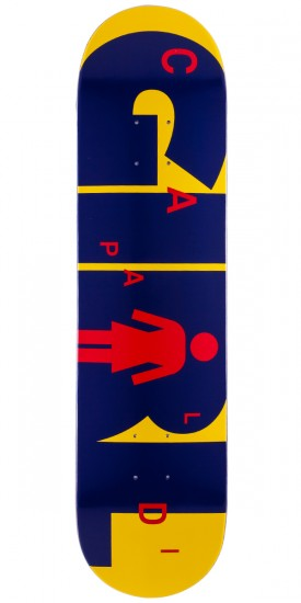 Girl Mike Mo Advertype Skateboard Deck - 7.75""
