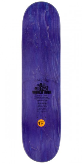 "Girl Mike Mo Skull of Fame Skateboard Deck - 8.0"" - Purple Stain"