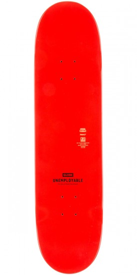 Globe Unemployable Skateboard Deck - Red - 8.25