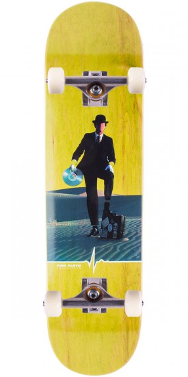 """Habitat Wish You Were Here Skateboard Complete - 8.25"""" - Green Stain"""