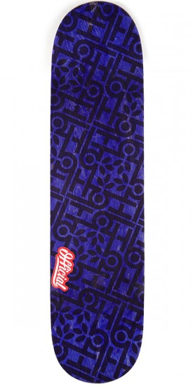 "Habitat x Official Janoski Purple Skateboard Deck - 8.375"" - Purple Stain"