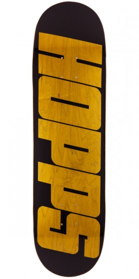 "Hopps Bighopps Skateboard Deck - 8.25"" - Black/Yellow"