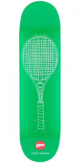 Hopps Steve Brandi Tennis Racket Skateboard Deck - Green - 8.125""