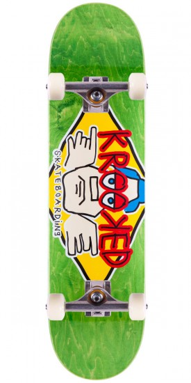 Krooked Arketype Skateboard Complete - Green - 8.06""