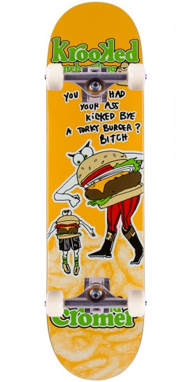 Krooked Cromer Flying Burger Gang Skateboard Complete - 8.06""