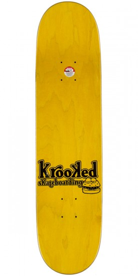 Krooked Gonz Flying Burger Gang Skateboard Deck - 7.75""