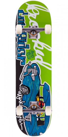 Krooked Mark Gonzales Sk8Loco Lowrider Skateboard Complete - Blue Stain - 8.38""