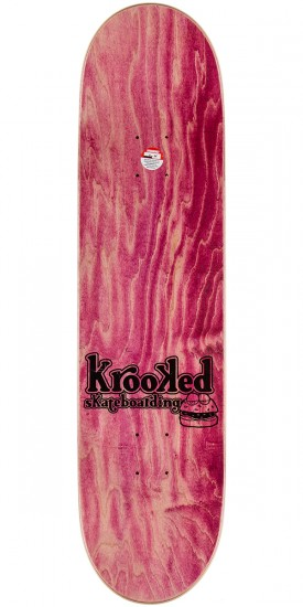 Krooked Worrest Flying Burger Gang Skateboard Complete - 8.125""