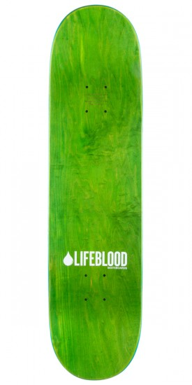 Lifeblood Logo Skateboard Complete - Green/Yellow