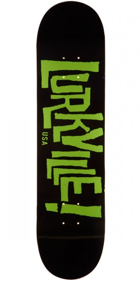 "Lurkville Logo Skateboard Deck - 8.00"" - Green/Black"