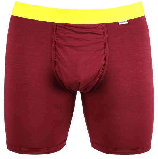 MyPakage Weekday Solid Boxer Brief - Burgundy/High Visible Yellow