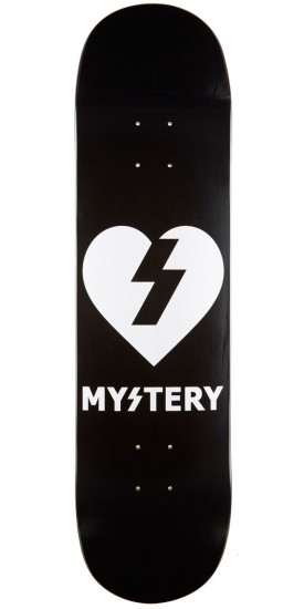 "Mystery Heart Skateboard Deck - 8.00"" - Black/White"