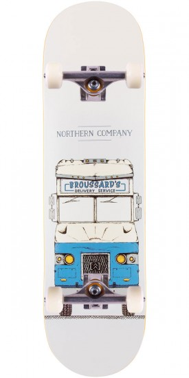 Northern Co. Broussard Truck Skateboard Complete - Blue - 8.38""