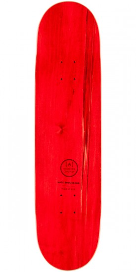 Northern Co. Broussard Truck Skateboard Deck - Red - 8.25""