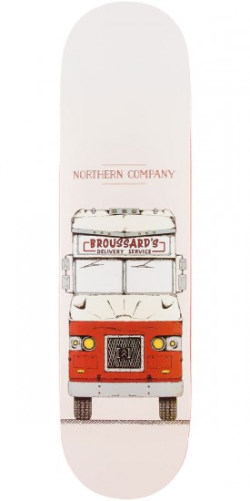 Northern Co. Broussard Truck Skateboard Deck - Red - 8.0""