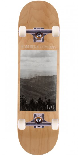 "Northern Co. Mountain Board Skateboard Complete - 8.5"" - Natural Stain"