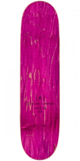 "Northern Co. Mountain Board Skateboard Deck - 8.5"" - Pink Stain"