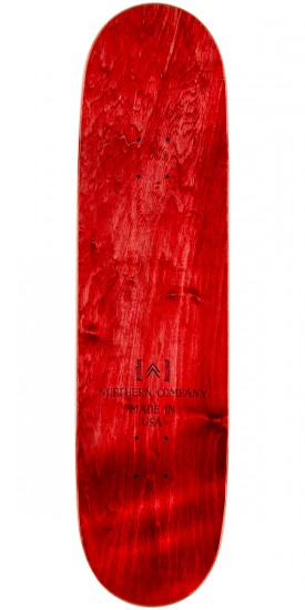 "Northern Co. Mountain Board Skateboard Deck - 8.5"" - Red Stain"