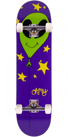 Oh My Alien Balloon Skateboard Complete - 8.25""