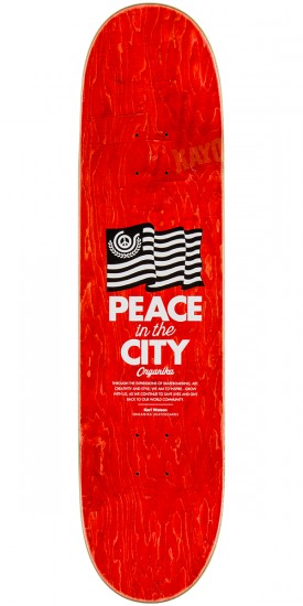 Organika Peace In The City Skateboard Deck - 8.06""