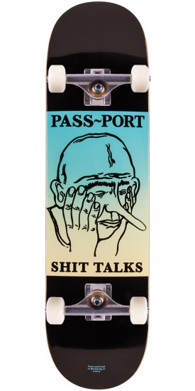 Passport Shit Talks Faces Skateboard Complete - 8.38""