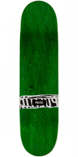 "Politic JFK Coin Skateboard Deck - 8.25"" - Green"