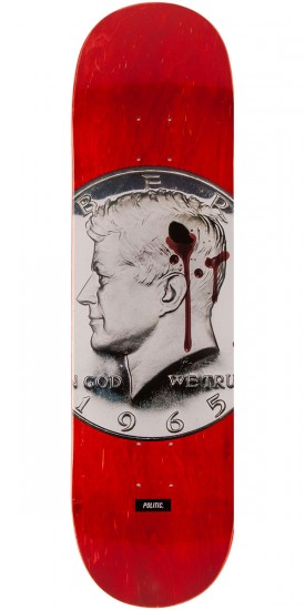 "Politic JFK Coin Skateboard Deck - 8.25"" - Red"