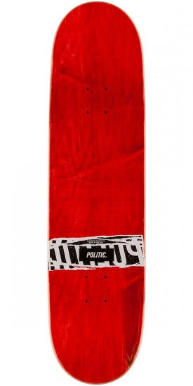 "Politic JFK Coin Skateboard Complete - 8.25"" - Red"