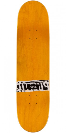 "Politic JFK Coin Skateboard Deck - 8.5"" - Yellow"
