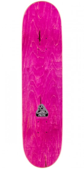 Politic Wheel Head Skateboard Complete - Magenta - 8.125""