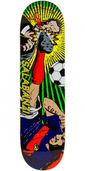 Primitive Bastien Salabanzi Red Card Skateboard Deck - 8.38""