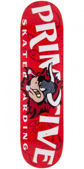 Primitive Raging Bull Skateboard Deck - 8.0""