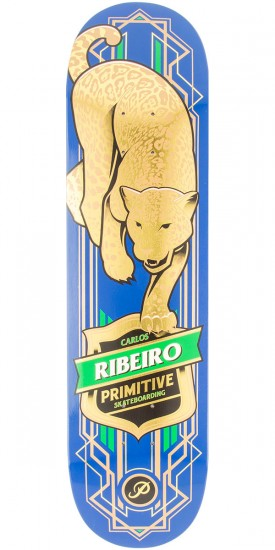 "Primitive Ribeiro Jaguar Skateboard Deck - 8.125"" - Blue"