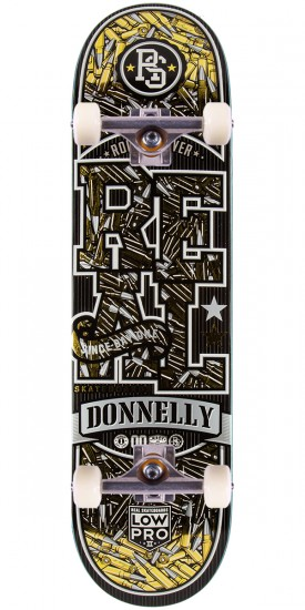 """Real Donnelly Munitions LowPro 2 Skateboard Complete - 8.25"""""""